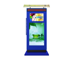Multi Screen 49'' Waterproof Outdoor Screen Floor Stand Totem Display