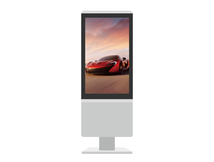 "43"" LCD Digital Signage Vetical Touch Screen Display Floor Stand"