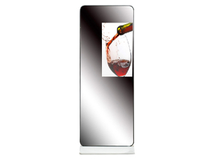 Floor standing mirror LCD digital advertising player